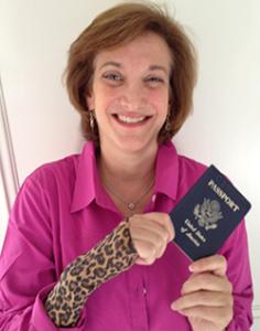 lisa with her passport