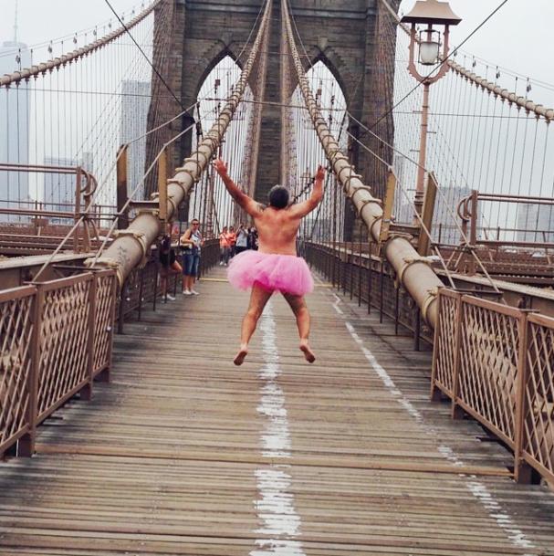 Pink Tutu Brooklyn Bridge